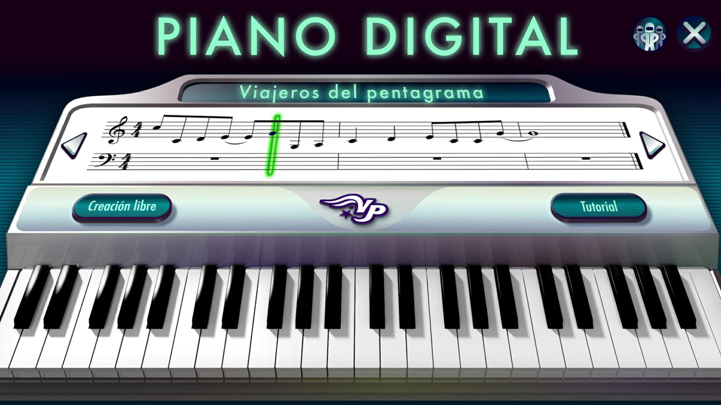 Interactivo piano digital